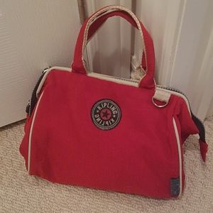 Vintage Kipling red handbag shoulder/ crossbody